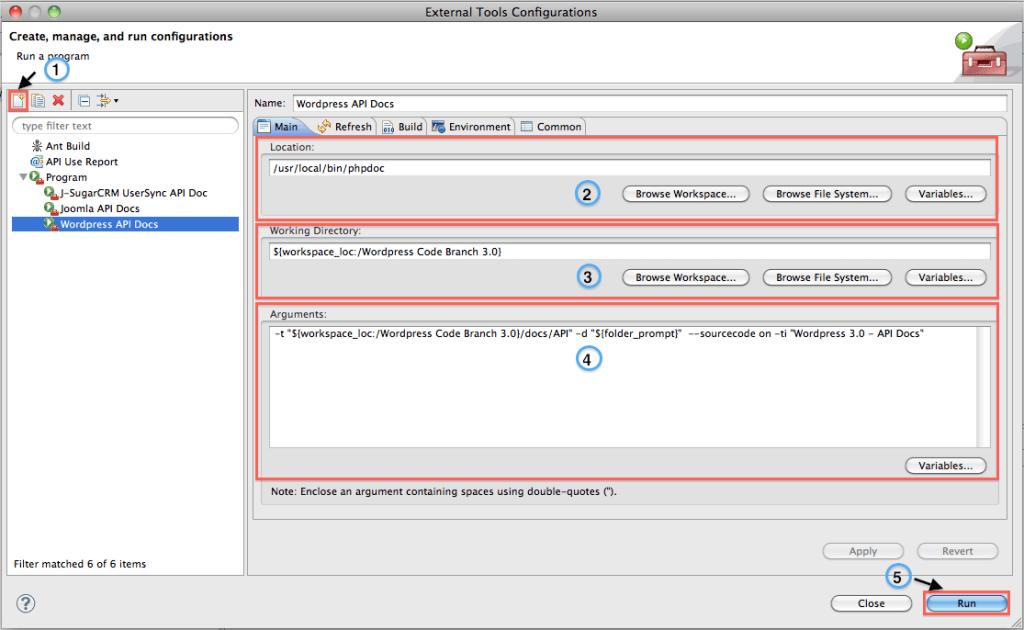 Creazione dell'External Tools Wordpress API Docs.